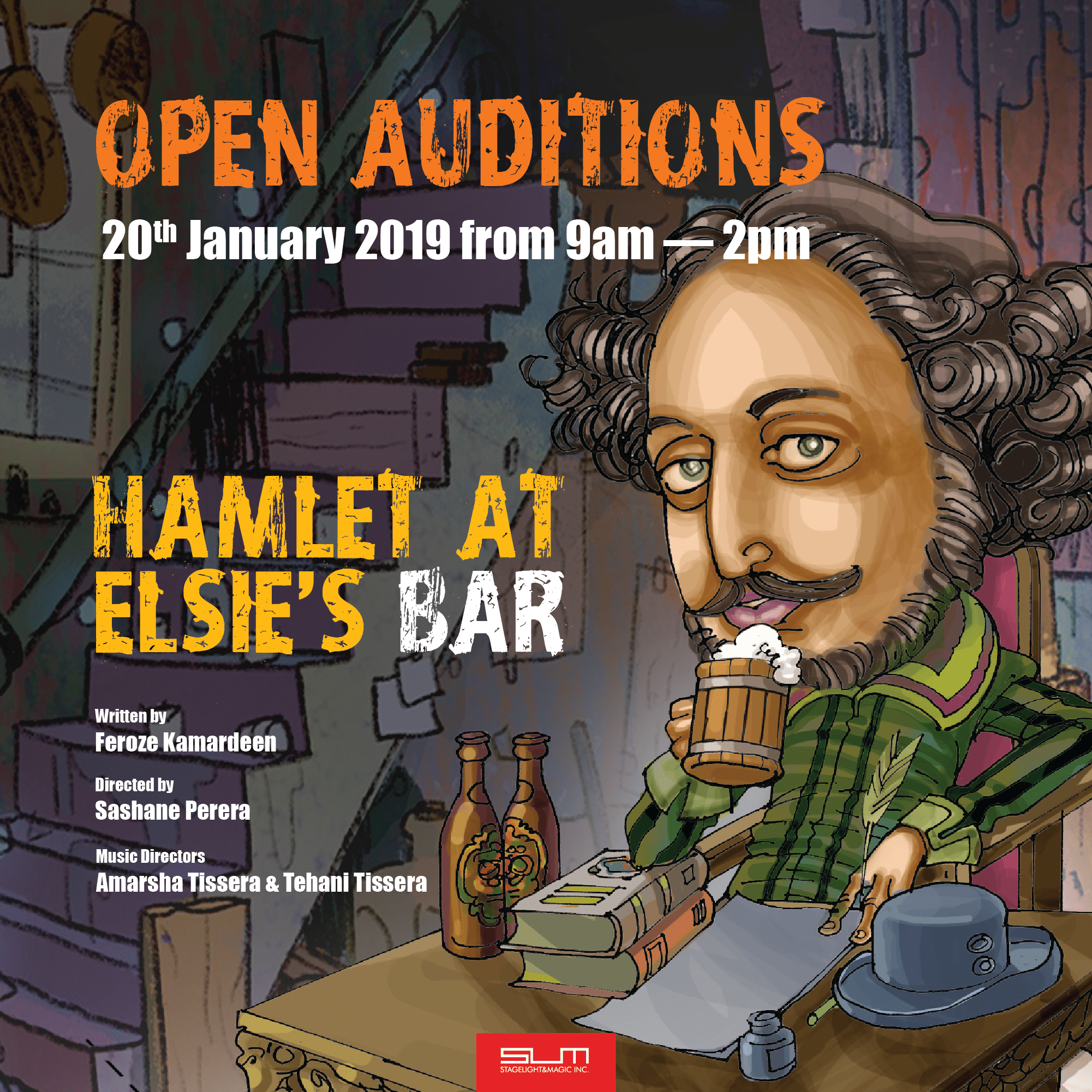 Open Auditions — Hamlet at Elsie's Bar | StageLight&Magic Inc